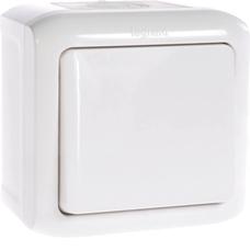 FORIX 6A IP44 biały Przycisk jednobiegowy