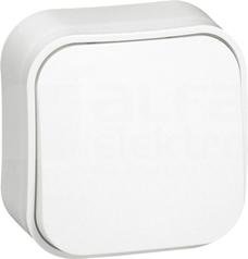 FORIX 6A biały Przycisk jednobiegowy