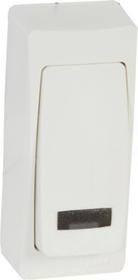 OTEO MINI biały Przycisk zwierny jednobiegunowy podświetlany