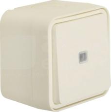 W.1 biały IP55 Łącznik uniwersalny kompletny z podświet