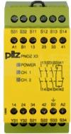 PNOZ X3 24VAC 24VDC 3n/o 1n/c 1so Przekaźnik bezp.wył.aw.drz.och.kurt.świ.