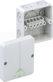 ABOX 025-2,5mm2 80x80x52 IP65 szary Puszka łączeniowa