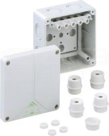 ABOX 060-6mm2 110x110x67 IP65 szary Puszka łączeniowa