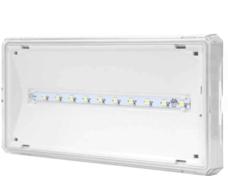 EXIT LED 1W 3h SA 125lm IP65 biała Oprawa ewakuacyjna 2-zad.