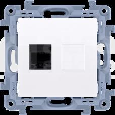 SIMON10 RJ45 kat.5e biały Gniazdo komputerowe pojedyncze