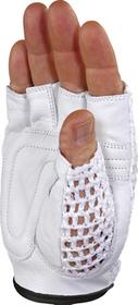 50MAC szary 10 Rękawice bez palców skóra/dzianina