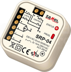 SRP-04 230VAC Sterownik rolet dopuszkowy przewodowy