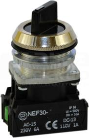 NEF30-TPAs XY czarny Przycisk pokrętny stab.0-I