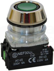 NEF30-UKz XY zielony Przycisk sterown.kr.szczelny