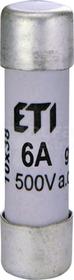 CH10x38 gG 4A Wkładka topikowa cylindryczna