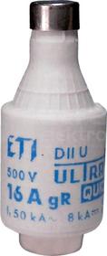 DII gR 400V 16A Wkładka topikowa ultraszybka