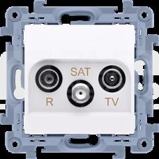 SIMON10 biały Gniazdo RTV-SAT końcowe