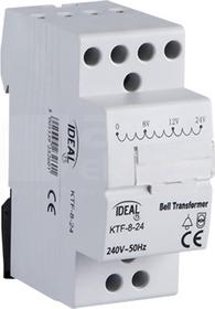 KTF-8-24 230/8-12-24V 8VA TH35 Transformator dzwonkowy