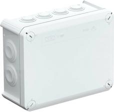 T160 jasnoszara IP66 z dławikami Puszka natynkowa 190x150x77