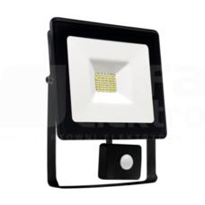 NOCTIS LUX 10W/CW 900lm 120D 230V IP44 Naświetlacz LED czarny z czujn.ruchu