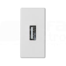 CONNECT czysty biały Płytka złącza USB+gniazdo