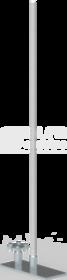 43.3/M AL (3,0mb) Aluminiowy MASZT UZIOMOWY Z PODSTAWĄ