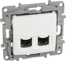 NILOE2 2xRJ45 kat.6 UTP biały Gniazdo komputerowe