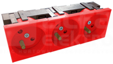 45x135 3x2P+Z 45D czerwony Gniazdo elektryczne