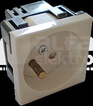 45x45 2P+Z 45D biały Gniazdo elektryczne