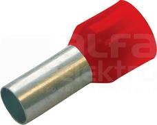HTI 1/8 czerwony (100szt) Końcówka tulejkowa izolowana