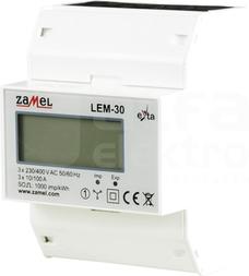 LEM-30 100A Licznik energii 3-faz.na szynę