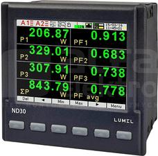 ND30 3x57,7/100V 3x230/400V RS485 Ethernet Analizator parametrów sieci