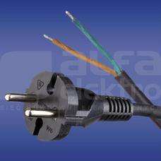 W-6 H05RR-F 2x1,5 5,0m czarny Przewód przyłączeniowy guma
