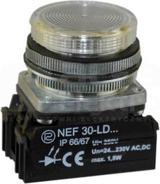 NEF30-LDb 24-230V biały Lampka diodowa