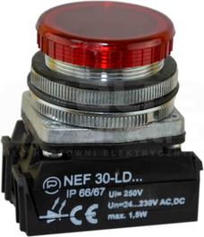 NEF30-LDc 24-230V czerw Lampka sygnalizac.diodowa