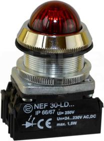 NEF30-LDSc 24-230V czer Lampka sygnalizac.diodowa