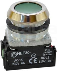 NEF30-Kz XY zielony Przycisk sterowniczy kryty