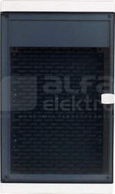 MULTIALFA 360 310x360x105 Szafa multimedialna natynkowa plastikowa