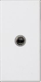 CONNECT czysty biały Płytka gniazda miniJACK