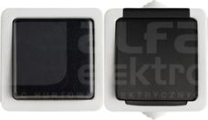 TEKNO 05-3120-143 czarny Łącznik jednobiegunowy z gniazdem