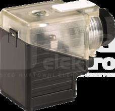 SVS 18mm 24-230V PG9 LED+mostek prostowniczy Wtyk zaworowy typ A skręcalny zaciski śrubowe