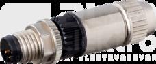 M8 3P 0,14-0,34mm2 Wtyk czujnika męski prosty zaciski nożowe