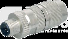 MOSA M12 0,25- 0,34mm2 Wtyczka męska prosta ekranowana