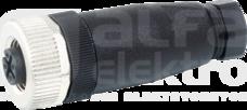 M12 4P max.0,75mm2 4-6mm Wtyk czujnika żeński prosty zaciski śrubowe