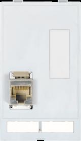 MODLINK MSDD RJ45+zaślepka SUB-D9 Moduł złącza danych