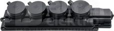 4x2P+Z IP44 czarny Listwa gumowa