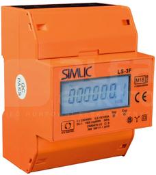 LS-3F pomarańczowy Licznik energii elektrycznej