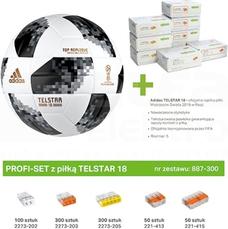 887-300 Zestaw PROFI-SET z pilką TELSTAR 18