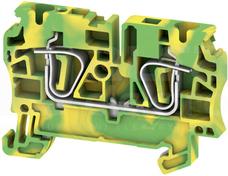 ZPE 4 żółto-zielony Złączka ochronna sprężynowa