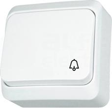 PRIMA biały Przycisk dzwonek