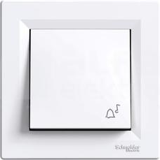 ASFORA biały Przycisk dzwonek