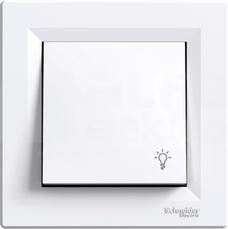 ASFORA biały Przycisk światło z ramką
