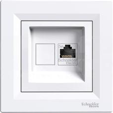 ASFORA kat.5e biały Gniazdo komputerowe 1x z ramką