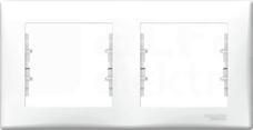 SEDNA biały Ramka 2-krotna pozioma