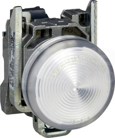 XB4BVB1 24V, BIALY WSKAZNIK SWIETLNY WBUDOW.LED